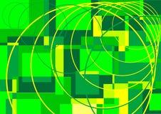 Squares and circles Stock Image