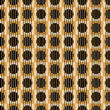 Squares circles seamless background. Circles inside squares and vertical lines. Geometric seamless tile background Stock Photography
