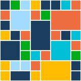 Squares Color Background. Vector Template for Flat Stock Image