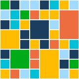 Squares Color Background. Vector Template for Flat Royalty Free Stock Photo