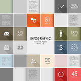 Squares colorful info graphic template Stock Photography