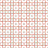 Squares and crosses, abstract geometric  seamless pattern. Royalty Free Stock Image