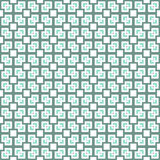 Squares and crosses, abstract geometric  seamless pattern. Stock Photography