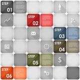 Squares design element steps template. Vector eps 10 Stock Photos