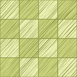 Square tiles, background seamless, light green, vector. Squares diagonally shaded in light green on a green field. Wood texture, shading pencil, simulation Royalty Free Stock Photos