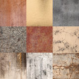 Squares of different colors and materials Stock Images