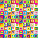 Squares distorted colorful seamless pattern background Stock Photos
