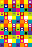 Squares and dots background Stock Image