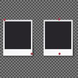Squares frame template with shadows isolated vector set collection - Vector royalty free stock photography