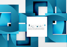 Squares geometric object in light 3d space, abstract background. Squares geometric object in light 3d space, vector abstract background Royalty Free Stock Photo