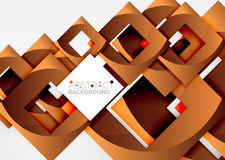 Squares geometric object in light 3d space, abstract background. Squares geometric object in light 3d space, vector abstract background Royalty Free Stock Photos