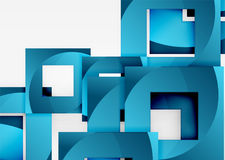 Squares geometric object in light 3d space, abstract background. Squares geometric object in light 3d space, vector abstract background Royalty Free Stock Image