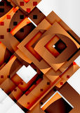 Squares geometric object in light 3d space, abstract background. Squares geometric object in light 3d space, vector abstract background Stock Images