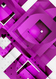 Squares geometric object in light 3d space, abstract background. Squares geometric object in light 3d space, vector abstract background Stock Image