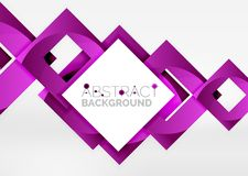 Squares geometric object in light 3d space, abstract background. Squares geometric object in light 3d space, vector abstract background Stock Photo