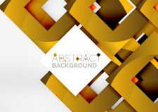 Squares geometric object in light 3d space, abstract background. Squares geometric object in light 3d space, vector abstract background Royalty Free Stock Photography