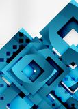 Squares geometric object in light 3d space, abstract background. Squares geometric object in light 3d space, vector abstract background Stock Photography