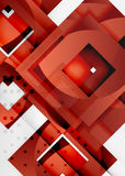 Squares geometric object in light 3d space, abstract background. Squares geometric object in light 3d space, vector abstract background Stock Photos