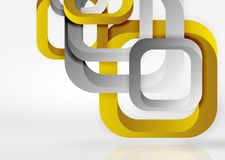Squares geometric shapes in light grey 3d space. Vector abstract background vector illustration