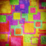 Squares on the grunge Royalty Free Stock Photos