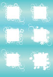 Squares with Grunge Ornaments Royalty Free Stock Photo