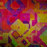 Squares on the grunge. Wall, abstract background Royalty Free Stock Photos