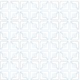 Squares, half, contour drawing, pattern, geometric, seamless, white background. On a white background geometric pattern of contour gray and blue halves of Stock Photos