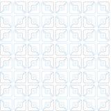 Squares, half, contour drawing, pattern, geometric, seamless, white background. Stock Photos