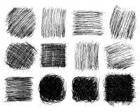 Free Squares Hand Drawn Scribble Big Set Stock Photo - 158869850