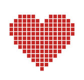 Squares heart Royalty Free Stock Photos