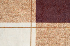 Squares and lines fabric texture background Stock Photography