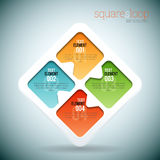 Squares Loop Infographic Royalty Free Stock Photo