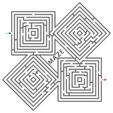 Squares maze royalty free stock photography