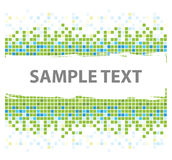 Squares mosaic texture green Royalty Free Stock Photo