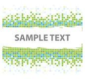 Squares mosaic texture green stock illustration