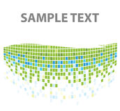 Squares mosaic texture green Royalty Free Stock Photography