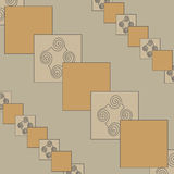 Squares. The pattern for the background, composed of geometric shapes and other elements Royalty Free Stock Photos