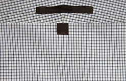 Squares Pattern Dress Shirt Labels Stock Images