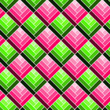 Seamless Squares Optical Pattern. Squares pattern with optical rectangles forming boxes. Seamless tile Royalty Free Stock Photo