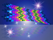 Squares Pattern Represents Star Blocks And Decorative Royalty Free Stock Photography