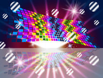 Squares Pattern Shows Multicolored Colors And Colourful Stock Image