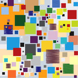 Squares Pattern Superposition Multiple Colors Stock Image