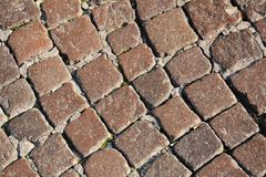 Squares pavement background Royalty Free Stock Photography