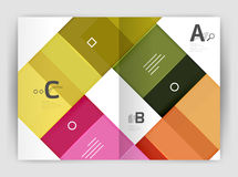 Squares and rectangles a4 brochure template. Vector design for infographics workflow layout, diagram, number options or web design Stock Photos