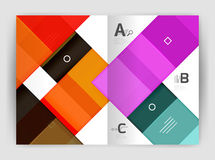 Squares and rectangles a4 brochure template. Vector design for infographics workflow layout, diagram, number options or web design Stock Image