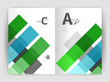 Squares and rectangles a4 brochure template. Vector design for infographics workflow layout, diagram, number options or web design Royalty Free Stock Photo
