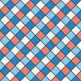 Squares red, blue, cream colour. Vector background of the squares of red, blue, cream colour  The effect of stained glass mosaic  space for text Royalty Free Stock Image