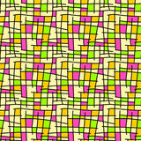 Squares seamless background. Squares and black lines background Royalty Free Stock Photos