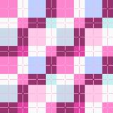 Squares seamless background, pink, vector background Royalty Free Stock Photos