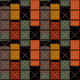 Squares seamless pattern retro texture background Stock Images